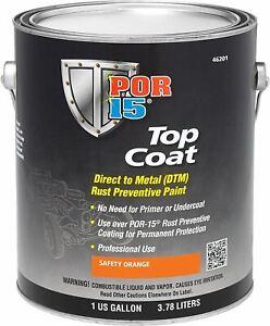 POR-15 46201 Top Coat Safety Orange Paint 128 fl. oz, 1 Gallon