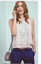 NEW Anthropologie Makam Double-Layer Tank  Size Small Retails  $118