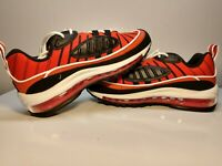 Nike Air Max 98 GS (Grade School). Habanero Red/White/Gold BV4872-601 Size 6Y
