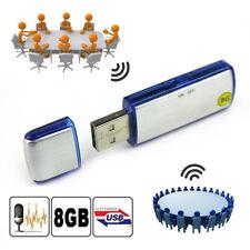 8GB Mini USB Disk Pen Drive Digital SPY Audio Voice Recorder 150hrs Recording US