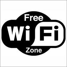 Adesivo indicazione FREE WiFi ZONE 120x120