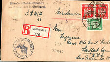1927 Germany Property Deed Mailed to USA Greifswald to Hartford CT Registered Po