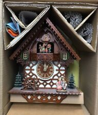 Vintage Animated/Musical Black Forest CHALET Cuckoo Clock 8-Day/new in orig box