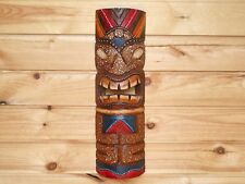 TIKI Mask Wooden Wall Plaque 50cm Hand Carved & Painted.....