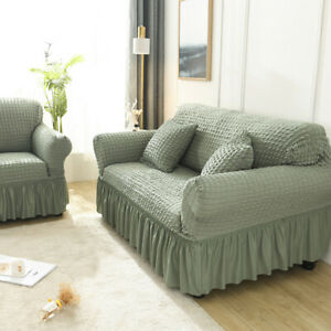 1/2/3/4 Seater Sofa Full Cover Stretch Settee Couch Elastic Slipcover Protector
