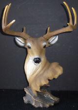 """NEW DAWN   Deer  Head on Rock    statue figure 16"""""""