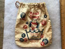 Marble Champ Vintage Marble Bag, Pressman Toy Co.