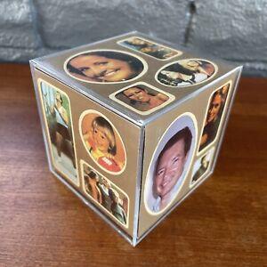 "Vintage 70's Photo Cube Holds 5 Photos Retro Decor ""The Photo Box"" New & Unused"
