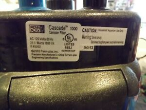 Penn Plax Cascade 1000 Canister Aquarium Filter For Aquariums up to 100 Gallons