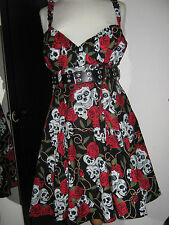 Strappy Swing dress skull size 14-30