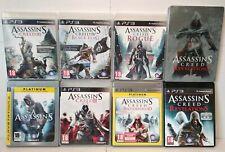 Assassin's Creed 1/2/3/4/Brotherhood Steelbook/Révelation/Rogue Lot 7 Jeux PS3