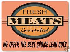 BUTCHER meat beef deli diner METAL SIGN restaurant  RETRO PLAQUE wall decor 050