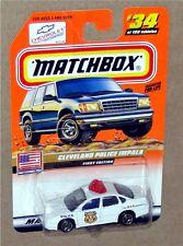 CLEVELAND POLICE IMPALA #34, MB2000 LOGO TREASURE HUNT Matchbox 1:64 NEW on Card