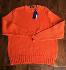 NWT $495 RALPH LAUREN PURPLE LABEL COTTON SWEATER SZ XL, MADE IN ITALY