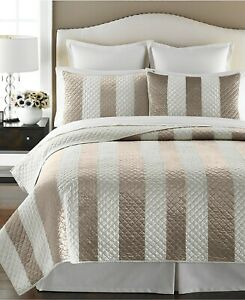 Martha Stewart Full/Queen Quilt Siena Stripe Quilted E92011