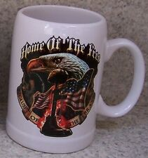 Coffee Mug Military Home of Free Because of Brave New 20 ounce cup with gift box