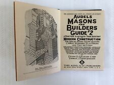Vintage Audels Masons And Builders Guide #2 Copyright 1945
