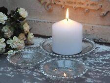 Chic Antique Glasteller Teller mit Perlenkante Set 3 tlg. shabby Deko vintage