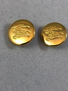 Burberry buttons (x1) Gold Metal Size 15mm