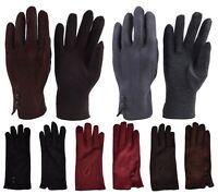 Ladies Women Gloves Soft Luxury Touch Screen Warm Fleece Winter 100% Polyester