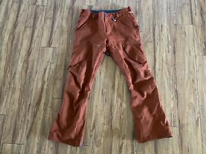 Volcom Articulated Snow Pants - Size XL - Brick Red