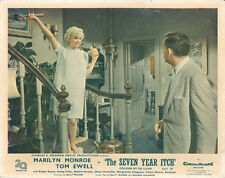 Seven Year Itch Marilyn Monroe in nightgown on staircase in apartment lobby card