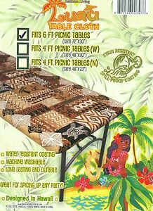 Hawaiian fitted picnic table FabricTablecloth Floral party  Luau Hawaii Frorida