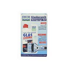 SET 250ml Spezialreiniger Schaber Poliertuch Glaskeramik Kochfeld Collo Luneta