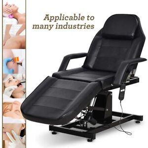 Electric Hydraulic Massage Table Spa Salon Tattoo Bed Barber Chair Black