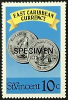 St. Vincent #1071 MNH Specimen CV$0.50 East Caribbean Currency Coins Perf 15