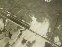 Antique WW1 recon aerial photograph Royal Flying Corps 1917 #19