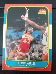 1986-87 Fleer #126 Kevin Willis Atlanta Hawks rookie card- EX