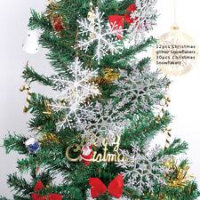 12x Schneeflocken 12cm Snowflakes Weihnachtsbaumdeko Christbaumschmuck Aufhängen
