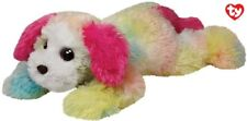 TY PLUSH DOG COLOURFULL YODELER SOFTWOOL RAINBOW TOY - 33CM - NEW TAGGED