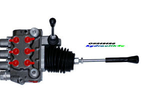 Hydraulikventil Ventil 3-fach 2 x DW Kreuzhebel 1 x DW 50 l/min 350 bar