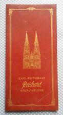 alte Speisekarte Cafe Reichard Köln / am Dom von 1978