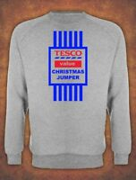 Christmas Sweater Mens Unisex TESCO Value Xmas SANTA GIFT Jumper Grey