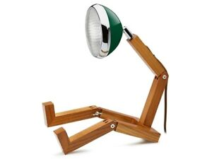 Mr Wattson LED wooden lamp Chiltren Green adaptable plug Office Desk Home Design