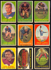 1958 TOPPS FOOTBALL PARTIAL SET LOT OF 43 CARDS COLTS PACKERS BROWNS 49ERS STARS