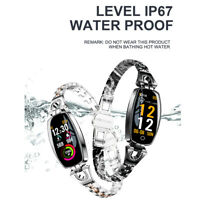 H8 Luxury Smart Watch Women  Waterproof Heart Rate Monitoring Bluetooth Bracelet