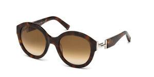 TOD'S Women Tortoise Brown Round Sunglasses T Bar