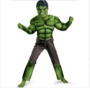 Deluxe Incredible Hulk Age 3-8 Boys Fancy Dress Kids Marvel Avengers Costume