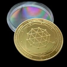 24k Gold Plated QTUM Quantum Crypto currency Collectible Novelty Coin