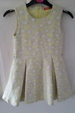 GIRLS LIME AND GOLD LINED DRESS FROM OILILY 4 YEARS PARTY OCCASION DESIGNER