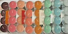 Scented Tea Lights Tealights Smokeless Wedding  - 8 Colours - 24 PACK