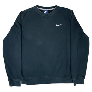 Nike Sweater Mens Medium Blue Swoosh 90s Vintage I1