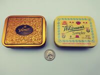 """Lot of 2 WHITMAN'S SAMPLER METAL Tins 1 3/4OZS 3.5""""X2.75"""" COLLECTIBLE MINT"""
