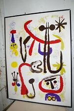 Joan Miro 1950 Lithograph Poster Art Print Personnages et Animaux Switzerland