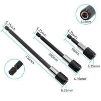 """3pc Magnetic Extension Extend Socket 1/4"""" Hex Power Bit H Screwdriver Drill C5A2"""