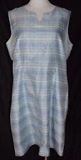 Jillian Jones Blue Purple Plaid Silk Summer Sheath Dress Size 14